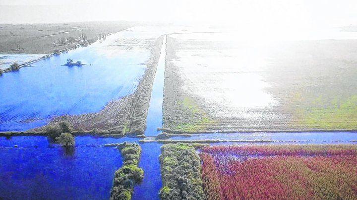 mucha agua. Las inundaciones de otoño en la zona núcleo pusieron en jaque a los productores agrícolas y tamberos.