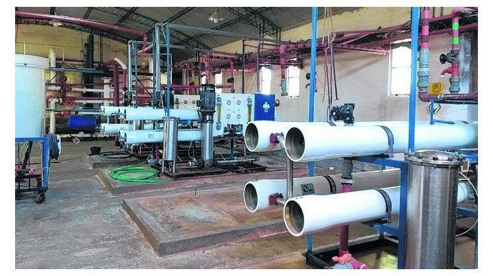 Más pura. Los trabajos permitirán distribuir por la red agua de calidad.