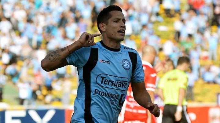 Con la celeste. Márquez jugó en Belgrano