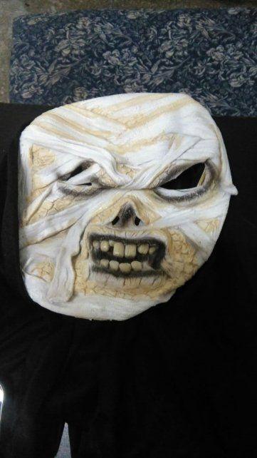 La máscara que usaban los delincuentes.