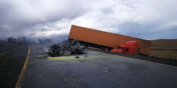 Cinco argentinos murieron tras un tremendo choque en el sur de Chile