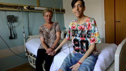 felices. Matías y su mamá Zulma a punto de recibir el alta. Fue operado el 12 de diciembre.