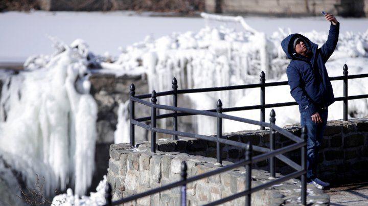 Cascadas congeladas en Paterson