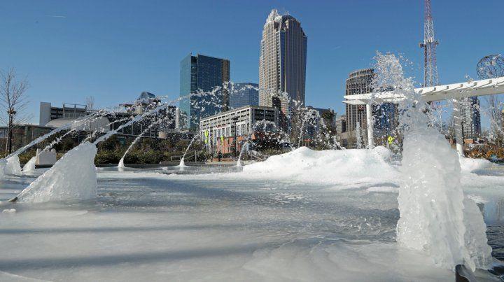 Fuentes a medio congelar en Charlotte
