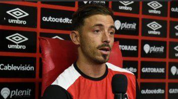 El volante rojinegro habló en conferencia de prensa.