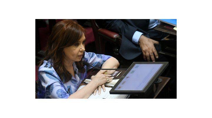 Presentación. Sobre la ex presidenta pesa un pedido de desafuero