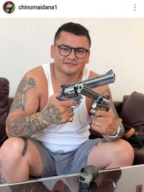 Polémica. La imagen que publicó el exboxeador santafesino y que luego fue borrada.