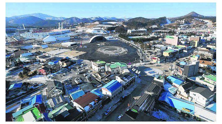 Todo listo. La localidad surcoreana donde se realizarán los JJOO.