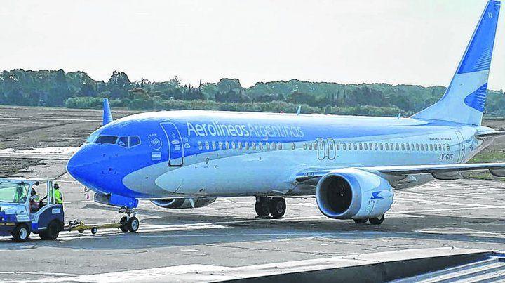 flamante. El Boeing 737 Max 8 con el que Aerolíneas operará vuelos de cabotaje.
