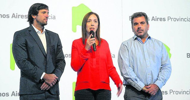 anuncio. La mandataria provincial de Cambiemos en la conferencia que ofreció ayer.