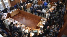 Una toma de la sala donde se expusieron los diálogos. Los fiscales desconocen su procedencia.