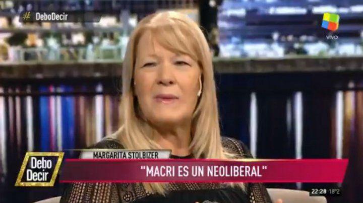 Stolbizer: Macri es un neoliberal, está en su ADN y en su historia