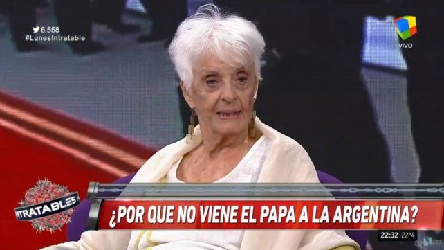 Fernández Meijide: No va a terminar la grieta porque venga el Papa