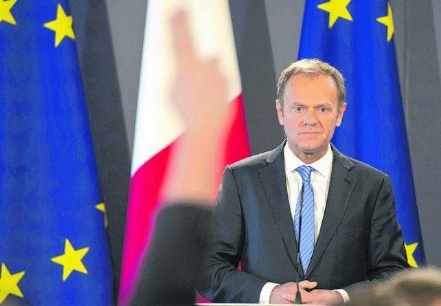 Tratativas. El presidente del Consejo Europeo