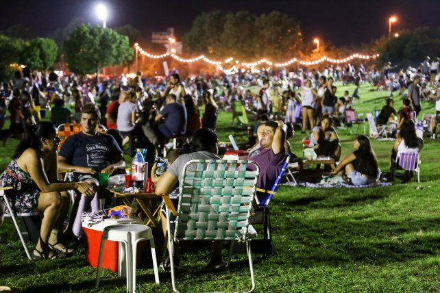 Una multitud colmó el parque Scalabrini Ortiz.