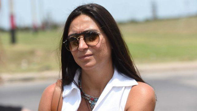 La fiscal Georgina Pairola, en el lugar del hecho.
