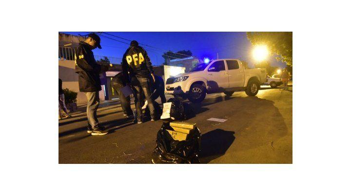 Casi cien kilos de marihuana se incautaron en noviembre frente a una casa de Cullen y Amenábar.
