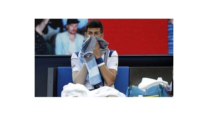 Frustración. El serbio no le pudo encontrar la vuelta al partido y cayó ante el coreano.
