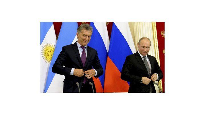 buenos amigos. Macri y Putin se tiraron flores. Hablaron de inversiones