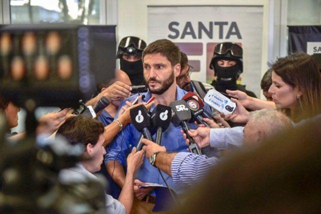 declaraciones. El titular de Seguridad dio una conferencia de prensa para explicar detalles del arresto.