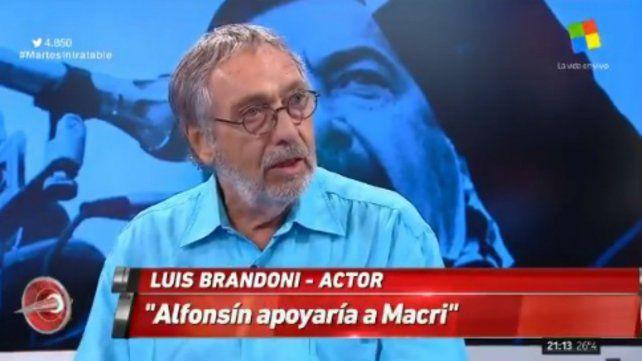Brandoni aseguró que Alfonsín apoyaría el gobierno de Macri