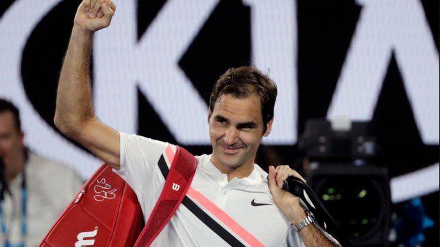 Federer pasó a la final del Abierto de Australia por el camino más corto