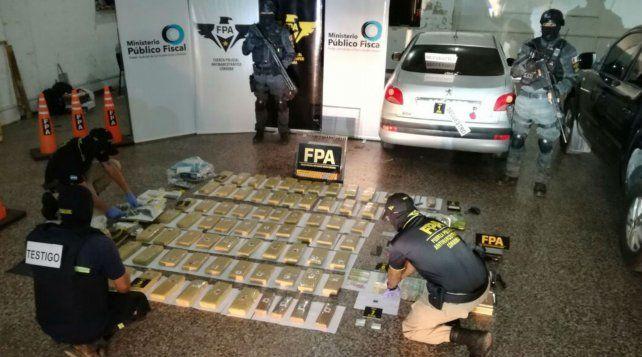 Marihuana. En los allanamientos se incautaron unos 78 kilos de droga.