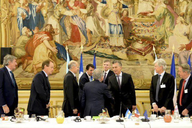 Macri desayunó con miembros del Movimiento de Empresas en el Círculo de la Unión Interamericana.