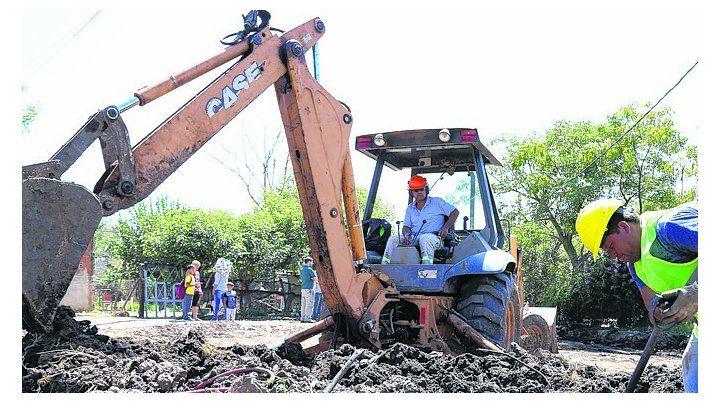 Intervención urbana. En barrio Jardín de Pérez trabajan en 26 cuadras.
