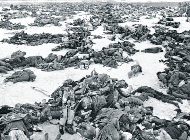 muerte. La retirada alemana dejó sólo cadáveres por el camino.