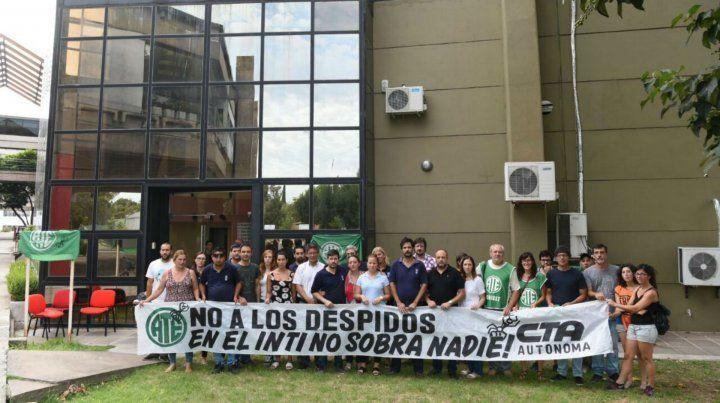 La protesta de trabajadores de ATE