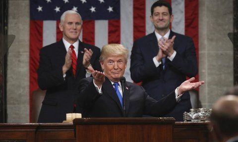 personaje. El presidente de EEUU sacó pecho de la buena marcha de la economía