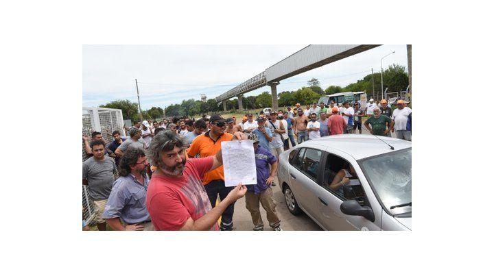 desacato. Cargill había firmado ante el Ministerio de Trabajo que dejaría entrar a todos los empleados.