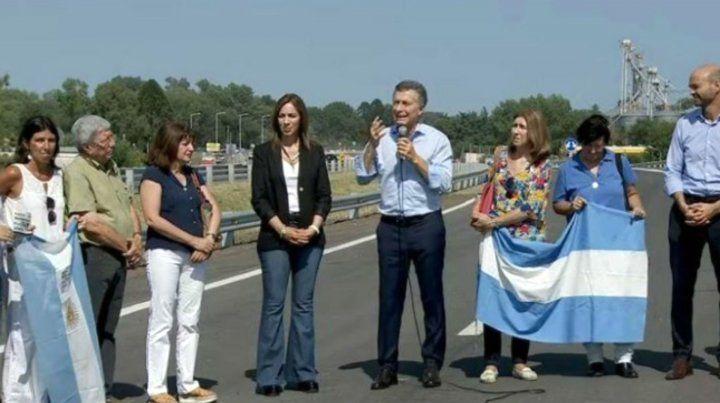 Macri habló junto a la gobernador de Buenos Aires