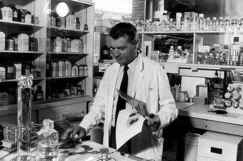 El principio. Luc Montagnier en su gabinete del Instituto Pasteur en 1986. Hacía tres años que había comenzado de decodificar una de las más enigmáticos males.