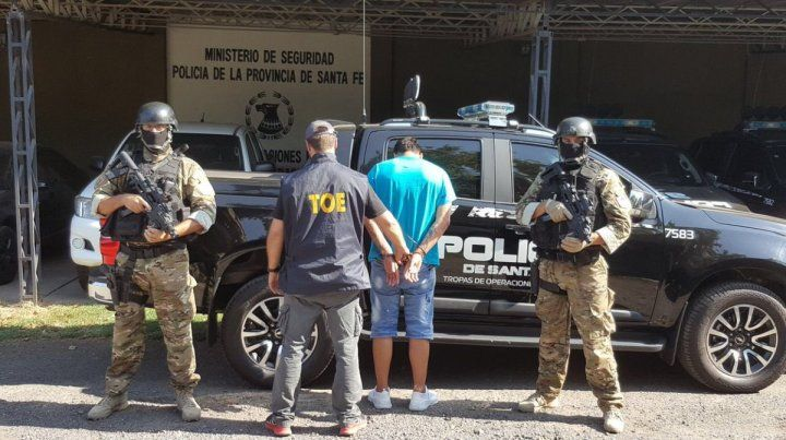 Arrestado. El hermano de Ema Pimpi fue detenido esta tarde en Rosario.