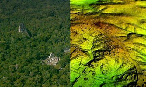 La ciudad maya de Tikal estaba rodeada por una red de estructuras y calzadas.