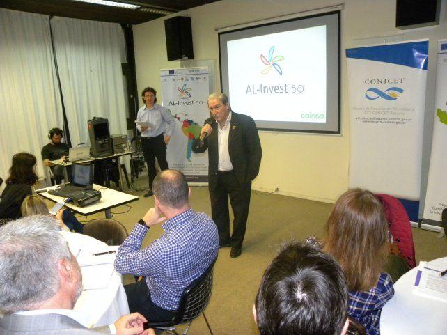 Lazos. Representantes de Al Invest 5.0 de la Unión Europea acercaron a empresarios rosarinos oportunidades para hacer negocios o asociarse para potenciar mercados ya existentes.