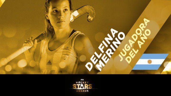 Elegida. La argentina Delfina Merino se consagró como mejor jugadora del 2017.