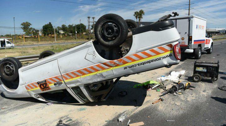El accidente se produjo esta mañana sobre Circunvalación.