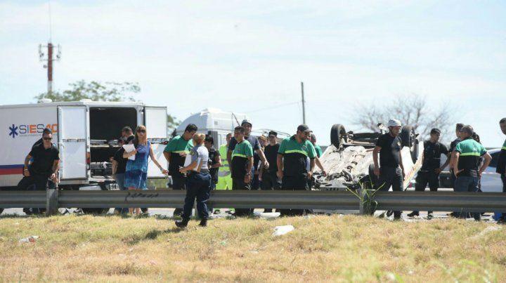 El accidente causó una importante congestión de tránsito en el lugar.