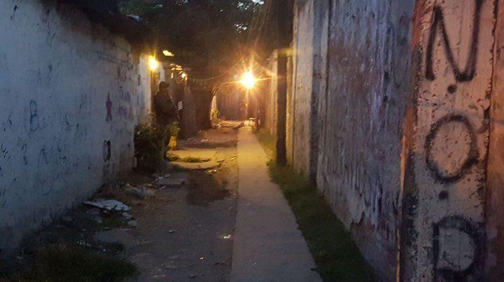 El pasillo donde vivía la víctima