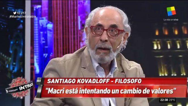Kovadloff dijo que Macri está intentando un cambio de valores