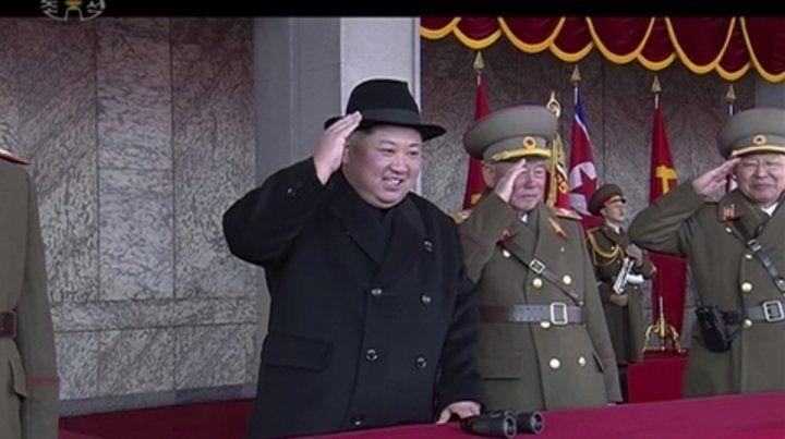 saludo. Kim Jong-un