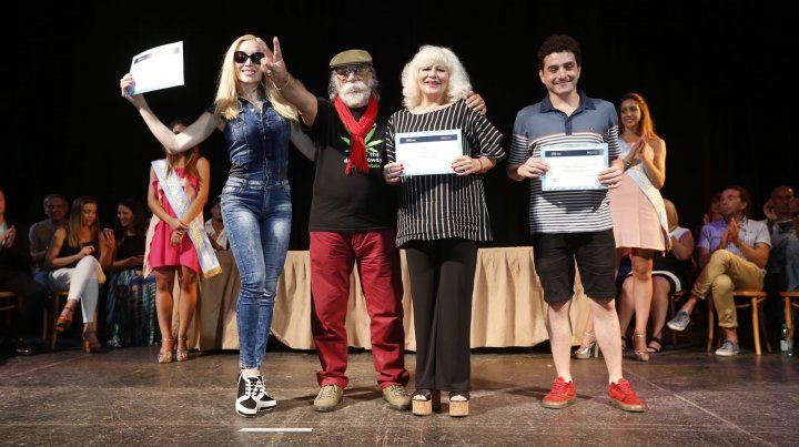 Bigote Acosta en la entrega de premios.