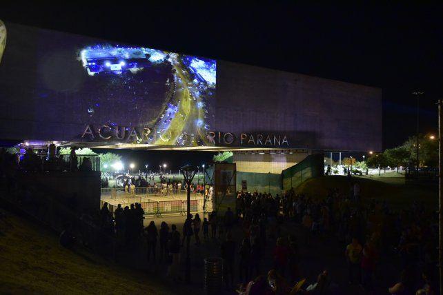 Inauguración. Se puso en marcha el Acuario del Río Paraná ante una multitud.