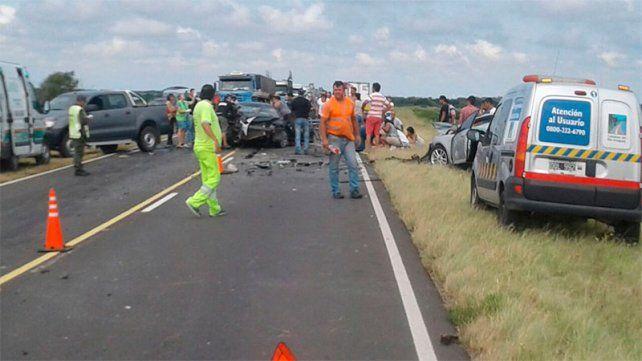 Identificaron a las cuatro víctimas fatales del accidente en la ruta a Victoria