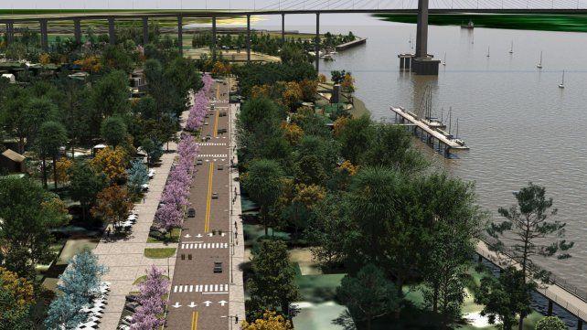 El proyecto. La obra que se iniciará este jueves tiene por objetivo lograr más espacios públicos y seguir jerarquizando la vinculación de la ciudad con el río Paraná.