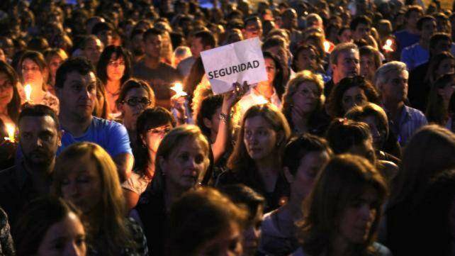 Concentración de familiares de víctimas de la inseguridad