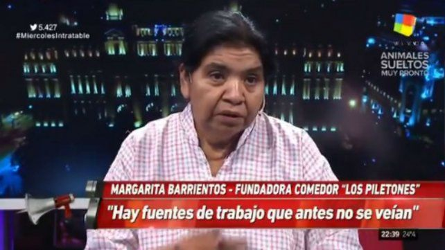 Margarita Barrientos: Hay fuentes de trabajo que antes no había